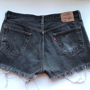 Levis Original 501 Straight Leg Button Fly Shorts